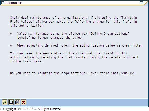 Organizational levels ( org levels in SAP )